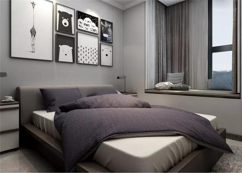 背景墙 床 房间 家居 家具 设计 卧室 卧室装修 现代 装修 800_573